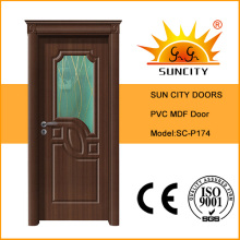 2016 portes de MDF turques de nouvelle conception avec enduit de PVC