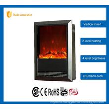 vertical insert fireplace with mantel 110-120V