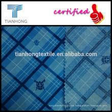 Escudo y corona y comprobar el patrón de tela escocesa popelín impreso tejido algodón estampado fino 97gsm tela para camisa