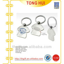 Customized T-shirt shape metal keyrings for famous brands