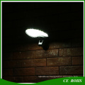New Design 500lm Solar Outdoor Lighting 56LED Rotatable Flexible SMD3014 LED Solar Wall Light with PIR Sensor and Dim Mode