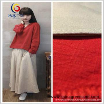 Tissu en lin en coton pour robe vêtement en tissu (GLLMMLP001)