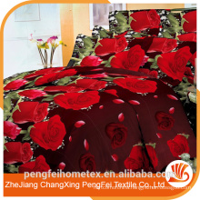 Durable100% polyester micorfiber textile brushed bed sheet fabric
