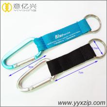 Porte-clés de lanière de mousqueton d'impression de logo d'OEM de courroie