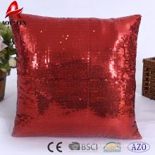 Paillette couleur unie chaise et canapé coussin décoratif, coussin à usage domestique