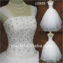 JJ2635 Latest Most Stunning new real arrival high quality crystal stones stylerystal embellished wedding dress