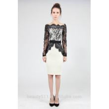 С длинным рукавом кружева с длинными рукавами платье большой юбка-карандаш PS06