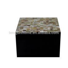 freshwater shell jewelry box with crystals for hotel decoration