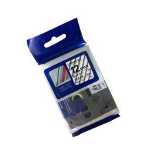 Tz 231 451 241 ruban d'étiquette stratifié pour imprimante noir sur blanc ruban d'étiquette stratifié tze231