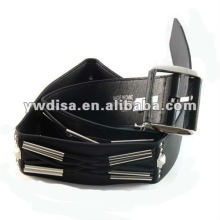 Women's Wide PU Plain Belts