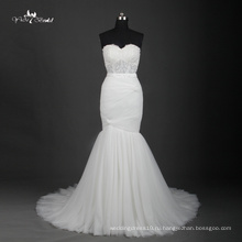 TW0191Illusion Складки Простой Святой Белый Русалка Свадебное Платье