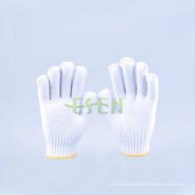 2016 Gants de coton à la vente chaude 350-900g, Gant de travail de sécurité avec bord jaune