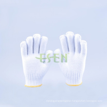 2016 Hot Selling Cotton Gloves 350-900g, Safety Work Glove with Yellow Edge