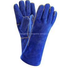 13.4 pulgadas guantes de soldadura de cuero Mig Tig