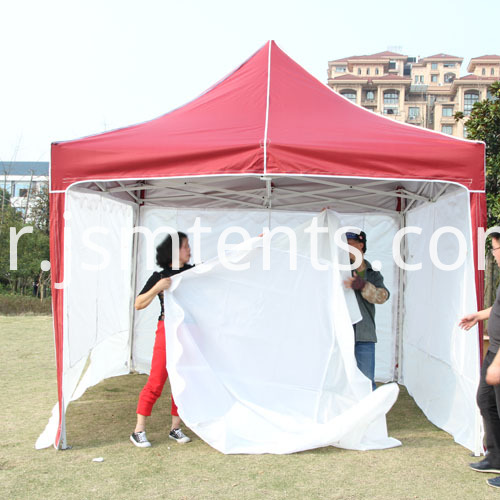 Red Roof Gazebo Tents with screen walls