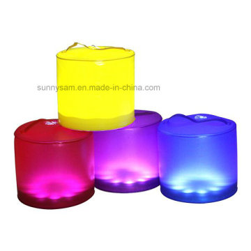 10 RGB LED inflable solar Lantern Camp luz color cambiando la linterna solar portátil al aire libre de senderismo luz impermeable