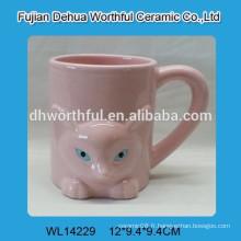 Tasse en céramique populaire de modèle de renard rose