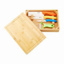 Ceramic Knife Set with Wooden Box