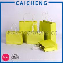 Bolsa de papel plegable barata impresa barata del regalo de las compras