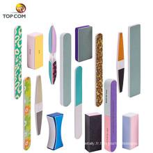 Fichiers de tampons à ongles variés pour cosmétiques bloquent de jolis styles