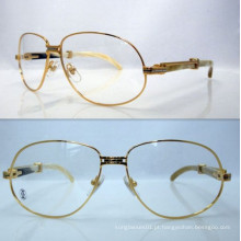 Ct White Mix Yellow Horn Bend Óculos / Ct Horn Reading Glasses / Ct Horn Frame
