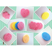 Wholesale 2014 New Pulp Wood and Cotton Cleaning Sponge Makeup Remover Sponge*