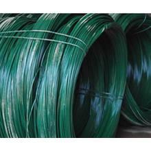 Negro / alambre galvanizado del PVC / alambre revestido del PVC para la suspensión