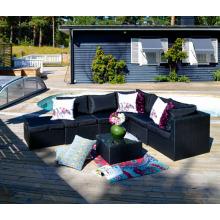 Resin Wicker Patio Furniture Garden Rattan Lounge Sofa Set