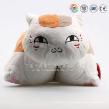 Gato de pelúcia em forma de almofada de brinquedos personalizados