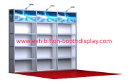 10x10 Custom Trade Show Exhibit Booth For Shell Scheme , Jewelry Display Stand
