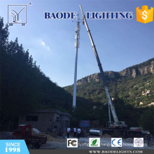 Torre de acero de larga duración Telecom Pole con función de iluminación