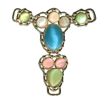 Vintage Sandal Chain with Colorful Opal Trim