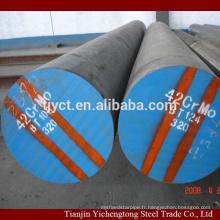 Barre ronde solide en acier de barre d'outil d'AISI 4140 SAE4140 d'alliage de carbone
