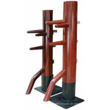 Manequim de madeira das artes marciais para a saúde