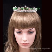 Corona al por mayor de encargo de la corona del rhinestone de la tiara headwear