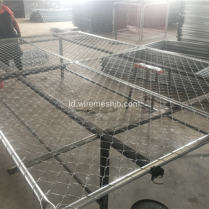 Chain Link Galvanized Temporary Fence
