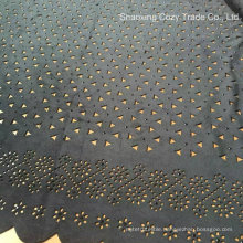 Hot Fashion Summer Garment Suede Laser Embroidery Fabric