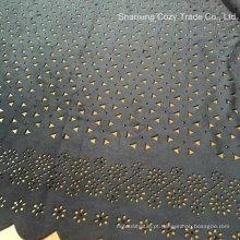 Tela quente do bordado do laser da camurça do vestuário do verão da forma