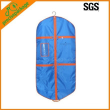 Blue Printed Foldable Garment Bag with Zipper