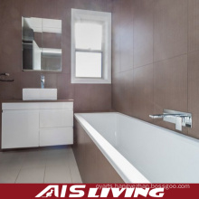 White Lacquer Bathroom Cabinets with Drawers Mirror Vanity (AIS-B013)