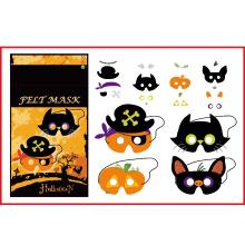 La fiesta del arte de Halloween DIY sintió la máscara borrosa