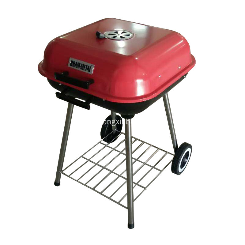 "BBQ Charcoal Grill 18 ""Square"