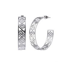 Vintage Chinese National Style Statement Stainless Steel Tribal Earrings