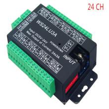 WS24LU3A DMX512 24CH 24A Controlador Decodificador DC5V-24V DMX Drive para RGB LED Tira