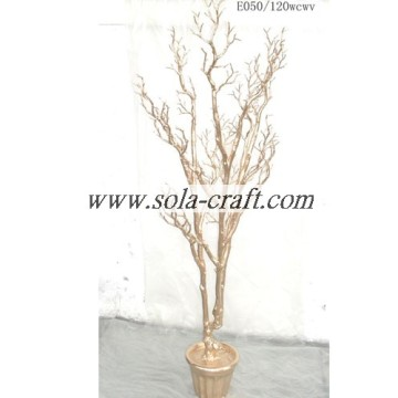 Gold Imitation Artificial Wedding Tree For Decoration With 120cm Length