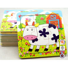 9 pieces Jigsaw paper puzzle toy for Children