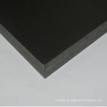 China Preço Preto Reforçado PVC Folha / Placa