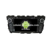 Gps do carro do software dos gps do jogador do dvd do carro do ruído do núcleo do quadrilátero com GPS, BT, DVR, controle do volante para Nissan Teana 2014