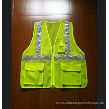Mesh Reflective Safety Vest with Crystral Tape, Meet En
