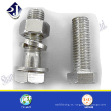 Acero inoxidable A2-70 A2-80 Pernos hexagonales